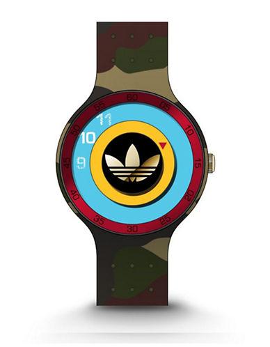Adidas Ipswich Unisex Silicone Watch-GREEN-One Size