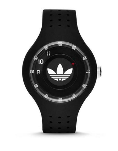 Adidas Ipswich Unisex Silicone Watch-BLACK-One Size