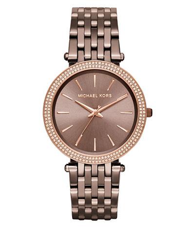 Michael Kors Analog Pretty Darci Two-Tone Bracelet Watch-BROWN-One Size