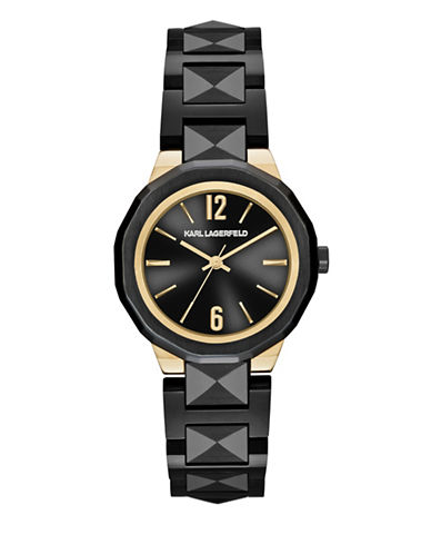 Karl Lagerfeld Paris Joleigh Black Bracelet Watch-BLACK-One Size