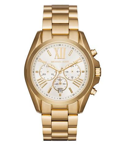 Michael Kors Chronograph Bradshaw Goldtone Bracelet Watch-GOLD-One Size