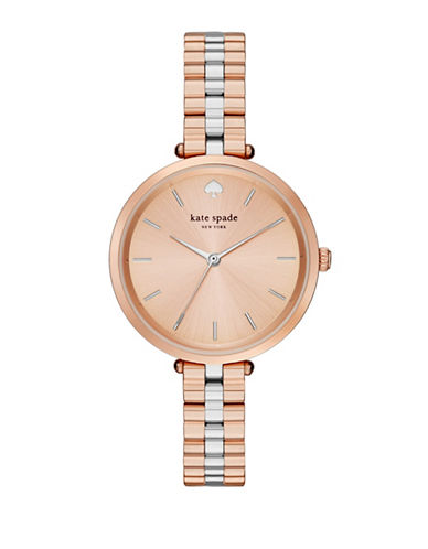 Kate Spade New York Holland Two-Tone Bracelet Watch-ROSE GOLD-One Size
