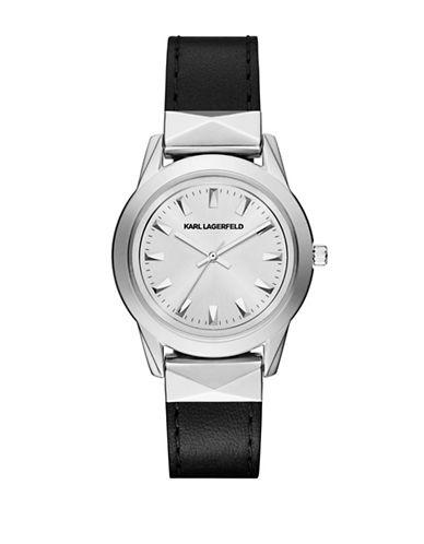 Karl Lagerfeld KL3805 Analog Stainless Steel Strap Watch-BLACK-One Size