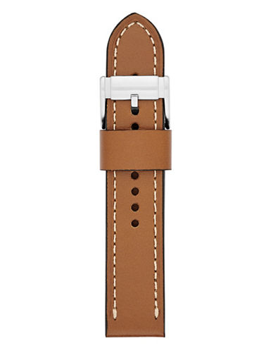 Fossil Large Tan Leather Watch Strap-BROWN-One Size