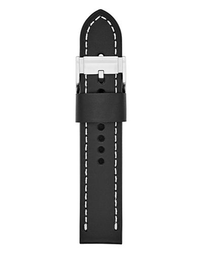 Fossil Leather Watch Strap-BLACK-One Size