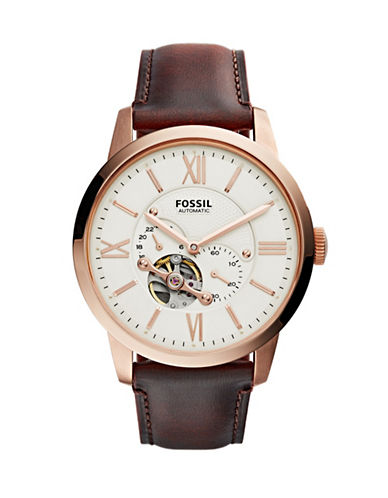 Fossil Analog Townsman Watch-BROWN-One Size