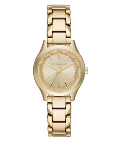 Karl Lagerfeld Analog Janelle Stainless Steel Bracelet Watch-GOLD-One Size