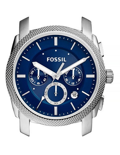 Fossil Machine Chronograph Stainless Steel Case-BLUE-One Size