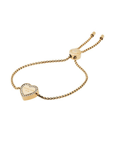 Michael Kors Heritage Heart Slider Bracelet-GOLD-One Size