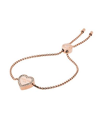 Michael Kors Heritage Heart Slider Bracelet-PINK-One Size