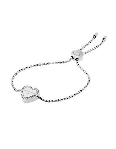 Michael Kors Heritage Heart Slider Bracelet-SILVER-One Size