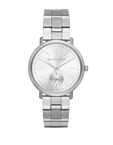 Michael Kors Jaryn Stainless Steel Bracelet Watch-SILVER-One Size
