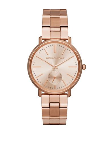 Michael Kors Jaryn Rose-Goldtone Bracelet Watch-PINK-One Size