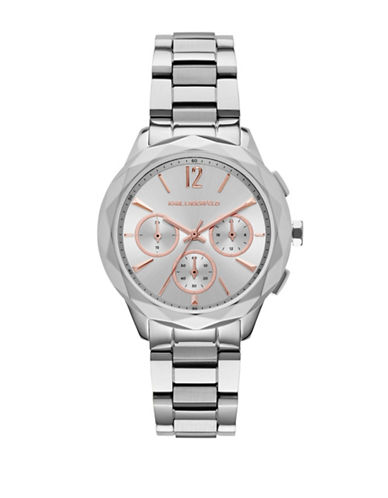 Karl Lagerfeld KL4005 Analog Stainless Steel Bracelet Watch-SILVER-One Size