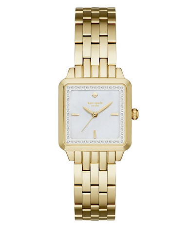 Kate Spade New York Washington Square Goldtone Analog Bracelet Watch-GOLD-One Size