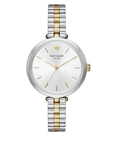 Kate Spade New York Holland Two-Tone Analog Bracelet Watch-SILVER/GOLD-One Size