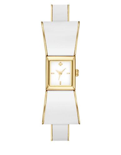 Kate Spade New York Kenmare Bow Bangle Bracelet Analog Watch-WHITE-One Size