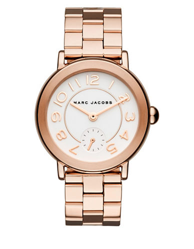 Marc Jacobs Analog Riley Rose Goldtone Bracelet Watch-ROSE GOLD-One Size