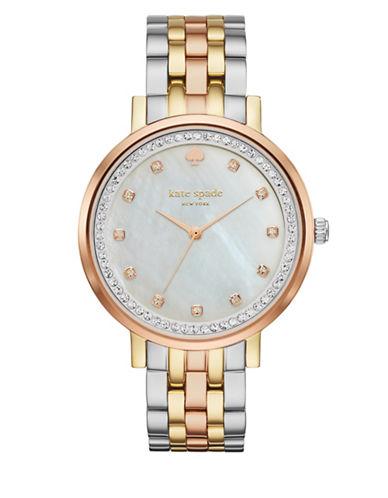 Kate Spade New York Analog Monterey Three-Tone Bracelet Watch-TRI TONE-One Size