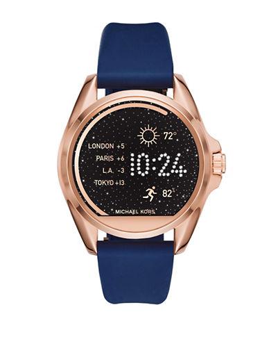 Michael Kors Bradshaw Silicone Watch Strap-BLUE-One Size