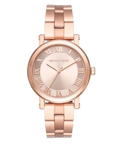 Michael Kors Analog Feminine Pretty Norie Rose-Goldtone Bracelet Watch-PINK-One Size