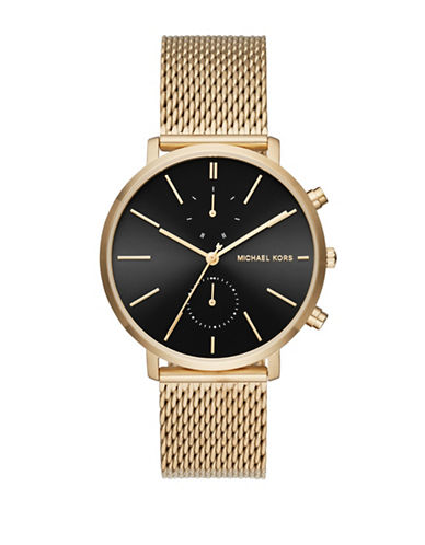 Michael Kors Analog Jaryn Goldtone Bracelet Watch-GOLD-One Size