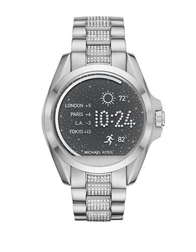 Michael Kors MK Access Bradshaw Silvertone Pave Smartwatch-SILVER-One Size