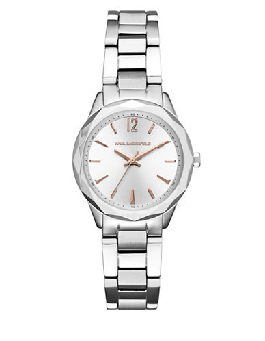 Karl Lagerfeld KL4013 Analog Stainless Steel Bracelet Watch-SILVER-One Size