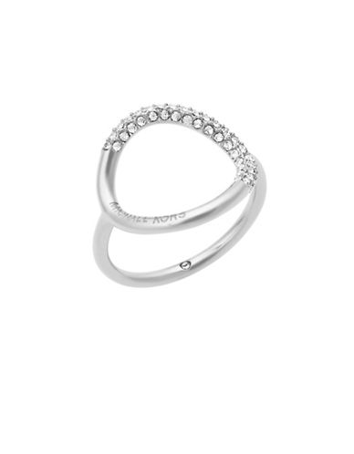 Michael Kors Brilliance Open Circle Ring-SILVER-6