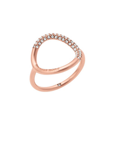Michael Kors Brilliance Open Circle Ring-ROSE GOLD-8
