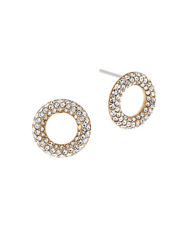 Michael Kors Brilliance Circle Stud Earrings-GOLD-One Size