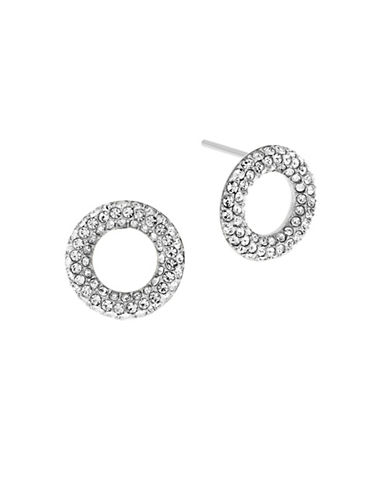 Michael Kors Brilliance Circle Stud Earrings-SILVER-One Size