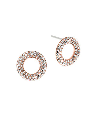 Michael Kors Brilliance Circle Stud Earrings-ROSE GOLD-One Size