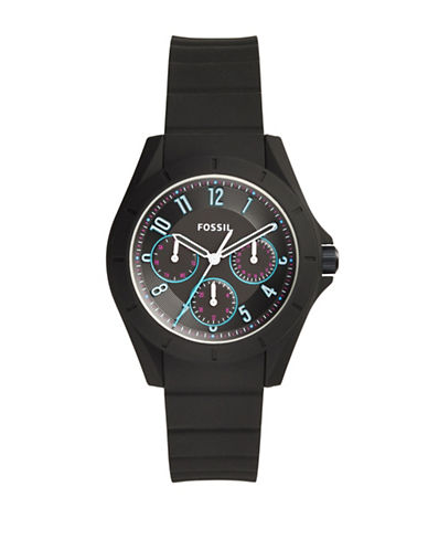 Fossil Poptastic Silicone Multifunction Strap Watch ES4063-BLACK-One Size 88733880_BLACK_One Size