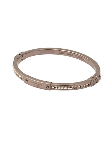 Michael Kors Princess Cut Peach Crystal Hinged Bracelet-SABLE-One Size