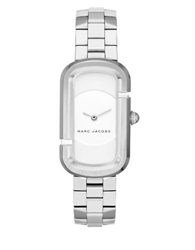 Marc Jacobs Analog Oval Jacobs Stainless Steel Bracelet Watch-SILVER-One Size