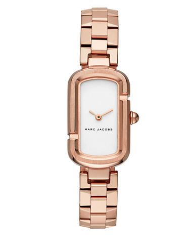 Marc Jacobs Analog Oval Jacobs Rose-Goldtone Bracelet Watch-ROSE GOLD-One Size