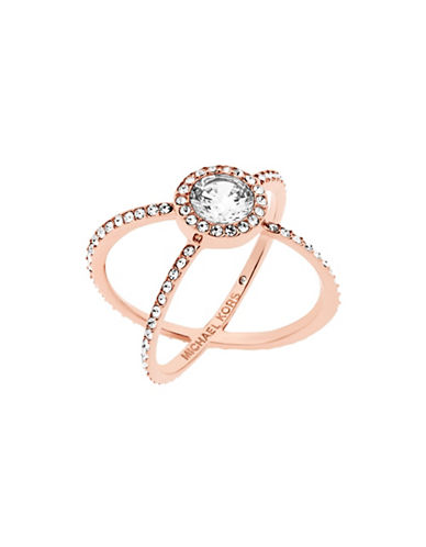 Michael Kors Modern Brilliance Cubic Zirconia Rose Goldtone Ring-ROSE GOLD-7
