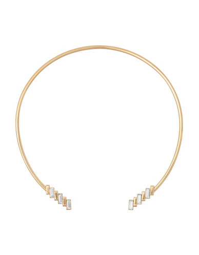 Michael Kors Cubic Zirconia and Crystal Collar Necklace-GOLD-One Size