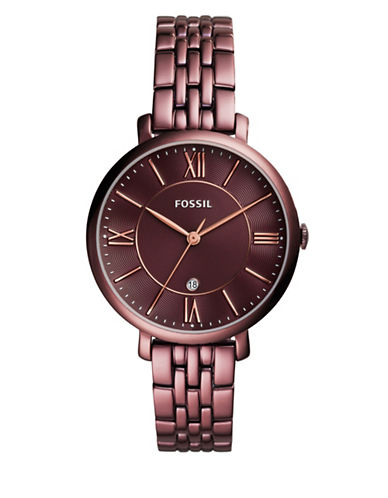 Fossil Jacqueline Analog Watch-ROSE GOLD-One Size