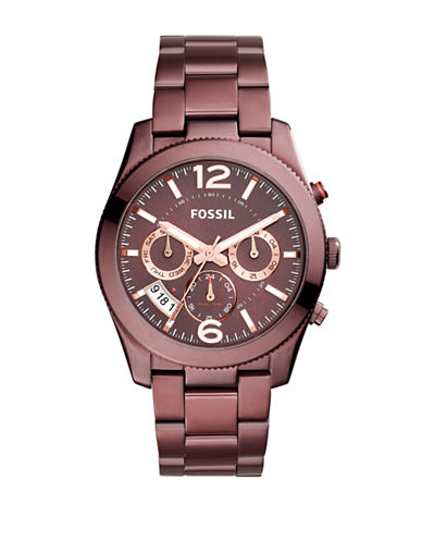 Fossil Multifunction Perfect Boyfriend Bracelet Watch-PINK-One Size