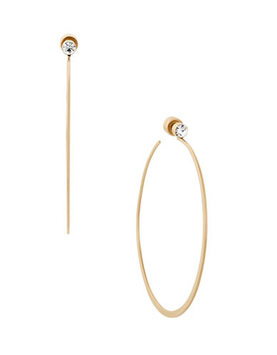 Michael Kors Modern Brilliance Cubic Zirconia Goldtone Hoop Earrings-GOLD-One Size