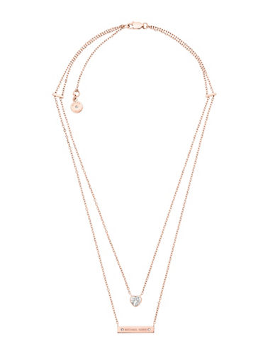 Michael Kors Rose Goldtone Bar Pendant Necklace-ROSE GOLD-One Size