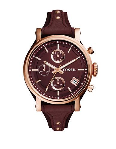 Fossil Original Boyfriend Chronograph Watch-RED-One Size