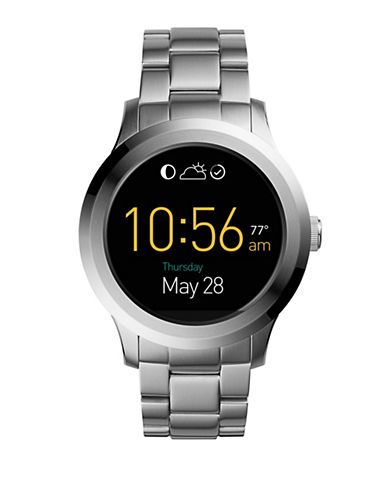 Fossil Gen 2 Smartwatch - Q Founder Stainless Steel-SILVER-One Size