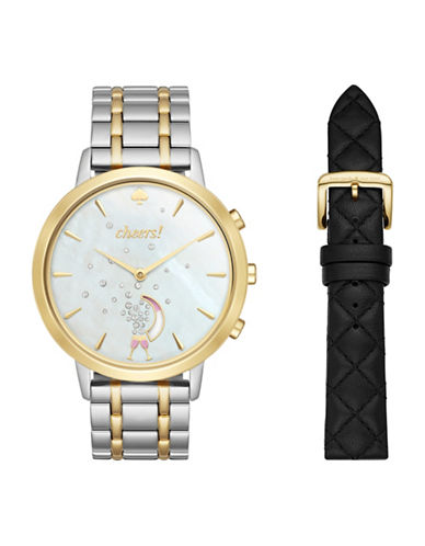 Kate Spade New York Analog Metro Hybrid Two-Tone Bracelet Watch Box Set-NO COLOR-One Size