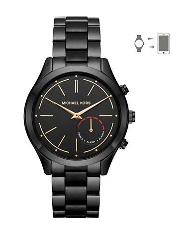 Michael Kors MK Access Slim Runway Black Hybrid Smartwatch-BLACK-One Size