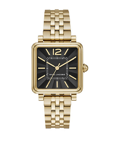 Marc Jacobs Vic Goldtone Stainless Steel Link Bracelet Watch-GOLD-One Size