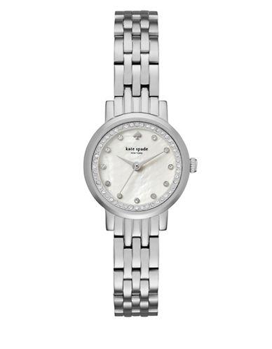 Kate Spade New York Analog Mini Monterey Stainless Steel Bracelet Watch-SILVER-One Size