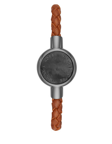 Michael Kors MK Access Crosby Brown Leather Activity Tracker-GREY-One Size